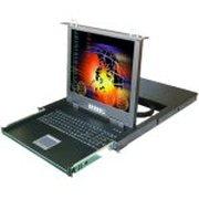 卓普 15寸16口抽取式LCD KVM切换器(ZP1516A)