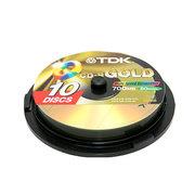 TDK CD-R光盘10片装 (黄金盘)
