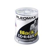 PLEOMAX R80X4809BK (黑色 CD-R/48X/100片桶装)
