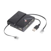 泰格斯 旅行式 USB2.0集线器+以太网线(ACH77AP)
