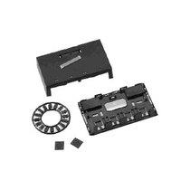 安普 2口插座盒(带磁铁,浅杏黄色)/1-179184-3产品图片主图