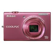 尼康 S6200 数码相机 粉色(1600万像素 2.7英寸液晶屏 10倍光学变焦 25mm广角)
