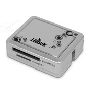 浩客 Hawk M4 SD/MS/Micro SD/M2多功能读卡机(87-ESM401)银色