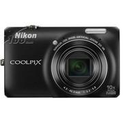尼康 S6300 数码相机 黑色(1602万像素 2.7英寸液晶屏 10倍光学变焦 25mm广角)