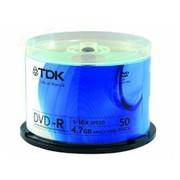 TDK DVD-R 16X(彩版蓝/50片桶装)