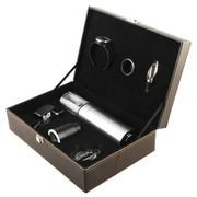 北欧欧慕 NHJ06CS电动红酒开瓶器七件套皮盒装