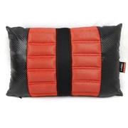 WRC 汽车靠垫 腰枕 腰靠 人体工程学 内含决明子 奢华碳纤风格 红色