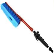 佳百丽 短柄通水刷 洗车刷 洗车必备 软毛(红柄蓝刷头)