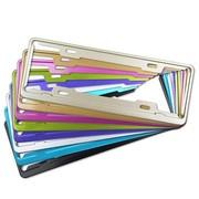 迪加伦 英非特 国标新交规车牌架 航空永不生锈铝合金彩色牌照框 紫色