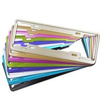 迪加伦 英非特 国标新交规车牌架 航空永不生锈铝合金彩色牌照框 银色产品图片主图