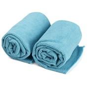 靓泽 大块超纤维DIY洗车毛巾70*35 两条装