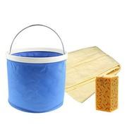 其他 博纳士 洗车海绵 擦车海绵 9L水桶 超强吸水合成麂皮擦车巾(3件套 )