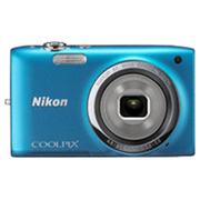 尼康 S2700 数码相机 蓝色(1602万像素 2.7英寸液晶屏 6倍光学变焦 26mm广角)