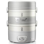 小熊 DFH-S2018 双层不锈钢蒸煮电热饭盒 (灰色)