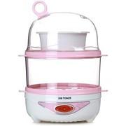 天际 DZG-W414Q 双蒸煮全能煮蛋器 14个蛋 350W(粉色)