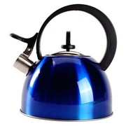 其他 蓝色不锈钢炫彩鸣音壶 亮丽厚实坚固耐用烧水壶(2L容量)