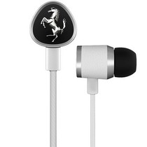 法拉利 Cavallino G150 WHITE 入耳式耳麦耳机 白色 来自汽车工艺的灵感 一键线控 佩戴舒适产品图片主图
