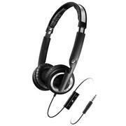 森海塞尔 耳机 PX200IIi 集成麦克/音量控制/苹果设备授权支持 黑色