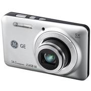 GE J1458W 数码相机 银色(1414万像素 5倍光变 2.7英寸液晶屏)