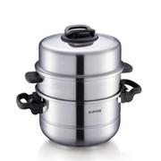 苏泊尔 28cm巧乐宝易存储三层蒸锅 304不锈钢蒸笼 SZ28T1 送碗碟夹打蛋器