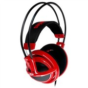 赛睿 西伯利亚v2 耳机 红色