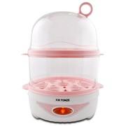 天际 DZG-W414Q 煮蛋器 14个蛋 双层蒸煮 粉红色