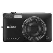 尼康 S3500 数码相机 黑色(2005万像素 2.7英寸屏 7倍光学变焦 26mm广角)