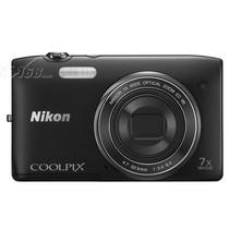 尼康 S3500 数码相机 黑色(2005万像素 2.7英寸屏 7倍光学变焦 26mm广角)产品图片主图