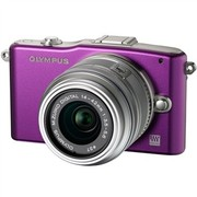 奥林巴斯 E-PM1 微单套机 紫色(M.ZUIKO DIGITAL 14-42mm f/3.5-5.6 II R 镜头)