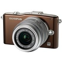 奥林巴斯 E-PM1 微单套机 棕色(M.ZUIKO DIGITAL 14-42mm f/3.5-5.6 II R 镜头)产品图片主图