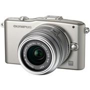 奥林巴斯 E-PM1 微单套机 银色(M.ZUIKO DIGITAL 14-42mm f/3.5-5.6 II R 镜头)
