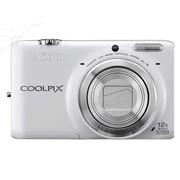 尼康 S6500 数码相机 白色(1602万像素 3英寸液晶屏 12倍光学变焦 25mm广角)