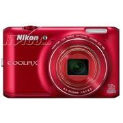 尼康 S6400 数码相机 红色(1602万像素 3英寸液晶屏 12倍光学变焦 25mm广角)