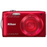 尼康 S3200 数码相机 红色(1602万像素 2.7英寸液晶屏 6倍光学变焦 26mm广角)