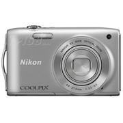尼康 S3200 数码相机 银色(1602万像素 2.7英寸液晶屏 6倍光学变焦 26mm广角)