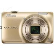 尼康 S6300 数码相机 金色(1602万像素 2.7英寸液晶屏 10倍光学变焦 25mm广角)