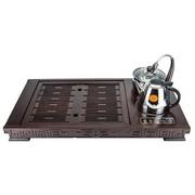 炜腾 WT-10S03(0320) 电磁组合茶盘 黑紫檀 自动加水消毒茶具