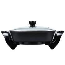 志高 H8-J2 5升不粘电热锅电炒锅电火锅 韩式多功能锅 黑色产品图片主图