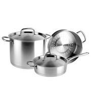 张小泉 紫气东来系列五件套 汤锅 不锈钢厨房锅具套装 S80330100 百年老字号