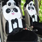 其他 熊猫卡通毛绒坐垫 红色