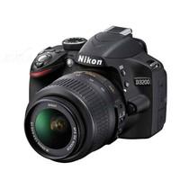 尼康 D3200 单反相机套机(AF-S DX 18-55mm f/3.5-5.6G VR尼克尔镜头) 黑色产品图片主图