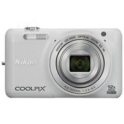 尼康 S6600 数码相机 白色(1602万像素 2.7英寸翻转屏 12倍光学变焦 25mm广角)