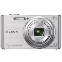 索尼 W730 数码相机 银色(1610万像素 2.7英寸液晶屏 8倍光学变焦 25mm广角)产品图片主图
