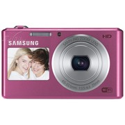 三星 DV150F 数码相机 粉色(1620万像素 智能双屏 5倍光学变焦 25mm广角 WiFi传输)