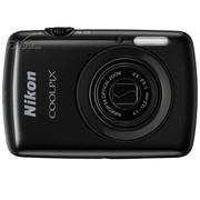 尼康 S01 数码相机 黑色(1014万像素 2.5英寸触摸屏 3倍光学变焦)