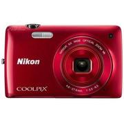 尼康 S4300 数码相机 红色(1602万像素 3英寸液晶触屏 6倍光学变焦 26mm广角)