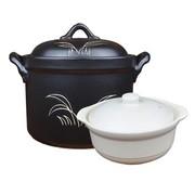 其他 康百佳 8号 3100ml/3.1L 锂瓷煲 花桶锅 砂锅 汤锅 炖锅 煲汤 黑色