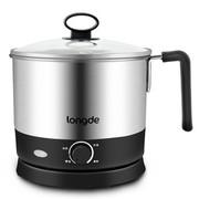 龙的 NK-ZG1205 电煮锅 小火锅、电热锅、热奶锅三合一多功能,食品级不锈钢。