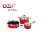 其他 正品LXBF龙兴宝富 新品精彩套装锅 三件套 LX-LB009