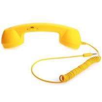 沐阳 Style Phone 防辐射橡胶封釉听筒 适用于手机/IPAD笔记本  iPhone专用 黄色产品图片主图